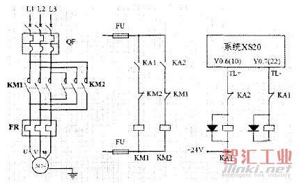 1 数控车床电动刀架电气控制故障诊断与排除   1)刀架电动机主电路