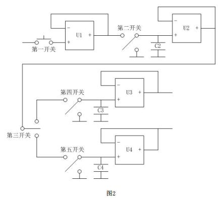 图2是减法运算电路之前的电路连接示意图.