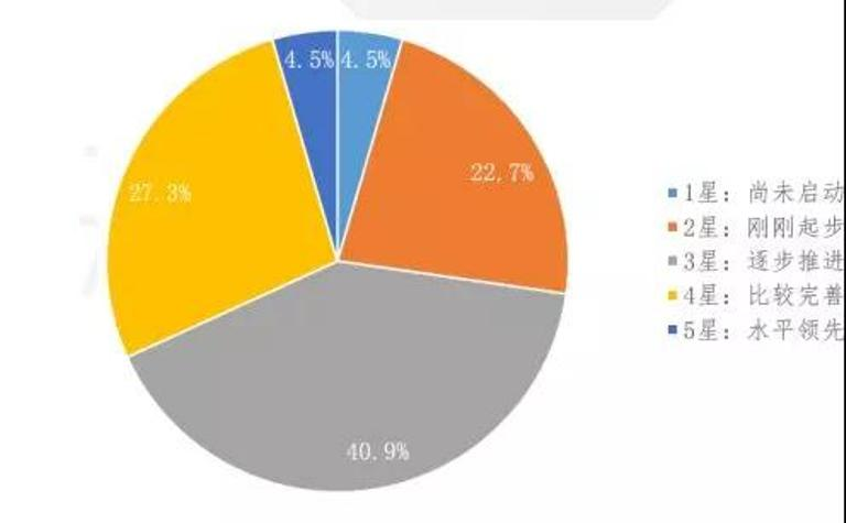 图25 工业互联网成熟度总体能力星级分布